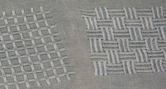 Plainweave Studios - IN STUDIO - Pulled Thread Embroidery