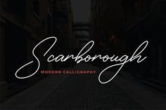 Scarborough is a Modern Calligraphy Font with monoline style. Fall in love with its elegantly playful nature! Scarborough is perfect for branding projects, Handwritten Script Font, Calligraphy Fonts, Lettering, Modern Caligraphy, Modern Typography, Beautiful Calligraphy, Wedding Logos, Handwriting Fonts, Premium Fonts