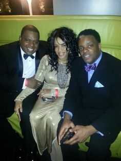 4th Annual Aquarius celebration. Me Cash the Stylist my hubby M.C. Spice and Rob Love from Def Jam.