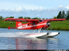De Havilland Canada DHC-2 Beaver Mk1, Water taxiing to the far end of the lake before takeoff. Now with a new paint scheme