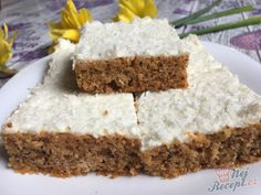Sweet Desserts, Vanilla Cake, Carrots, Food And Drink, Cooking Recipes, Sweets, Healthy, Yogurt, Bakken