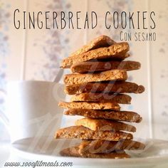 1000 Fit Meals: #76 Gingerbread cookies con sésamo (galletitas de jengibre)
