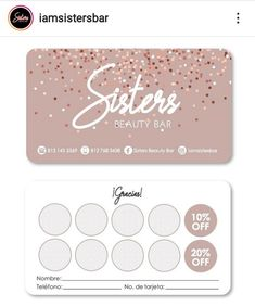 Business Card Logo, Business Card Design, Nail Studio, Beauty Bar, Art Logo, Zumba, Loyalty, Brows, Web Design