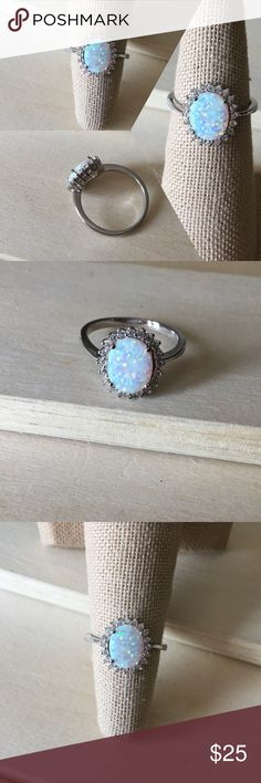 Princess Fire Opal Sterling Silver Ring Condition: New Metal: Stamped .925 Sterling Silver Stone: Lab Opal Will come in a gift box. Reasonable offers accepted! Please ask any questions you have ☺️ -Sterling Silver Ring Women's Jewelry Rings New Promise Ring Engagement Gift Anniversary- Jewelry Rings
