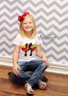 Thanksgiving initial shirt from AStitchUponAStar on Etsy  https://www.etsy.com/listing/108811152/girls-turkey-thanksgiving-shirt-with