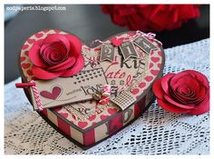 Check out this Valentine's Box by Thienly from LOVE ME DO SVG KIT.  Absolutely gorgeous!