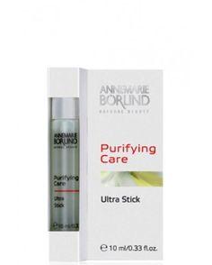 Tratamentul pentru coşuri Purifying Care Ultra Stick, de la Annemarie Borlind, conține acid salicilic natural ce elimină delicat roșeața, coșurile și punctele negre, prevenind reapariția lor și uniformizând aspectul tenului.