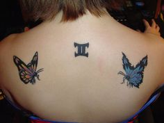 Cool Gemini Tattoo Concept for girls.