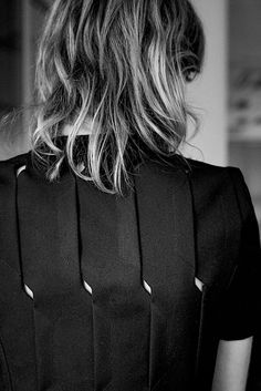 Innovative Pattern Cutting - dress detail with overlapping panels; sewing; fabric manipulation // Coperni Spring 2015