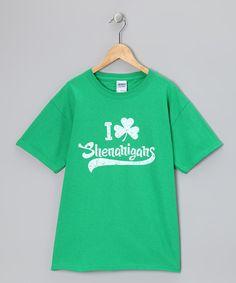 Look what I found on #zulily! Green 'Shenanigans' Tee - Kids & Adult by Crazy Dog #zulilyfinds