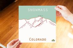 Aspen, Snowmass, Colorado Ski Trail Art. Print or Canvas. Aspen map. Snowmass map. Ski Trail map. aspen colorado. snowmass colorado. ski art