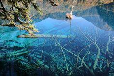 crystalline turquoise lake china