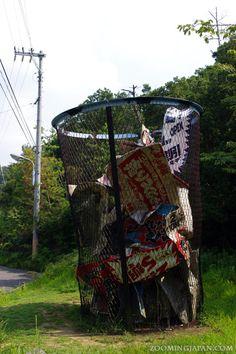 A HUGE garbage bin on Naoshima.