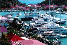 Gustavia, St Barts / St Barths / St. Barthelemy - Gustavia Harbor ~ SuperMegaYachts