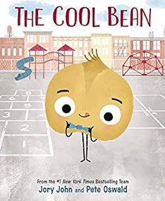 The cool bean by Jory John & Pete Oswald. (New York, NY : Harper, an imprint of HarperCollinsPublishers, [2019]). Everyone knows the cool beans. They're sooooo cool. And then there's the uncool has-bean ... Always on the sidelines, one bean unsuccessfully tries everything he can to fit in with the crowd--until one day the cool beans show him how it's done.
