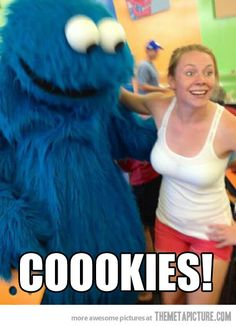 Excited Cookie Monster