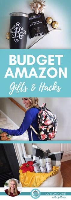 BUDGET Amazon Gifts & Hacks! 🙌 😱 (perfect last-minute ideas!) These deals are tried, tested and true! Amazon is a great resource for low prices and great deals – not just during the holidays, but year round. Amazon Hacks, Amazon Deals, Christmas On A Budget, Holiday Deals, Amazon Gifts, Last Minute Gifts, Money Saving Tips, Great Deals, Home Organization