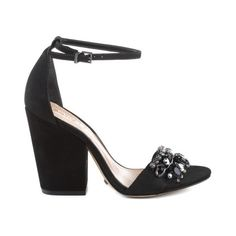 Schutz Shoes Official Website Store ❤ liked on Polyvore featuring shoes, chunky heel shoes, flat pumps, flat shoes, schutz shoes and high heel wedge shoes