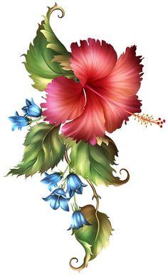 tubes en - Page 102 Folk Art Flowers, Botanical Flowers, Exotic Flowers, Vintage Flowers, Flower Art, Flower Phone Wallpaper, Butterfly Wallpaper, Beautiful Flowers Wallpapers, Beautiful Flower Drawings