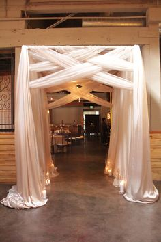 Beautiful walk way rustic wedding backdrop reception, wedding photo backdrops, wedding arch decorations, Trendy Wedding, Diy Wedding, Rustic Wedding, Wedding Venues, Dream Wedding, Wedding Ideas, Wedding Backdrops, Wedding Draping, Wedding Entrance