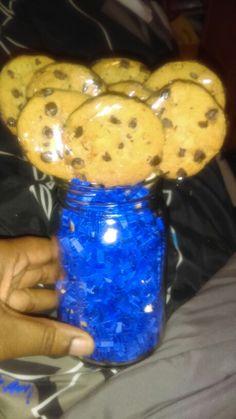 Cookie Monster Centerpieces Monster Centerpieces, Birthday Party Centerpieces, Baby Shower Centerpieces, Christmas Centerpieces, Monster Baby Showers, Sesame Streets, Cookie Monster Party, Baby Shower Cookies, Birthday Cookies