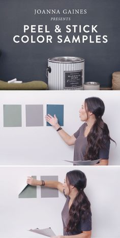 Picking out a new interior paint color is hard. That's why Magnolia Home by Joanna Gaines™ offers Peel and Stick Color Samples. Test paint samples in different types of lighting or throughout various rooms in your home. You can even build a custom color palette directly onto your walls.