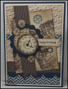 """At the recent Perth Heartfelt Stampin' Event we received a free stamp set """"Clockworks"""". When I saw this in our Annual Catalogue I was very ..."""