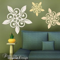 These pinwheel vinyl wall decal designs look like they're ready to spin right off the wall.