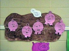 Farm theme-Mrs. Wishy Washy's pigs in a mud puddle.