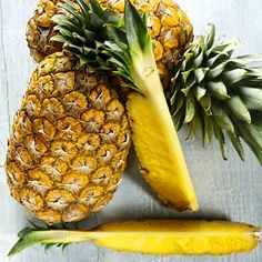PINEAPPLE IS high in vitamin  foods vitamin C. .and it an ANTI -INFLAMOTARY..to help you recover after a Work Out...