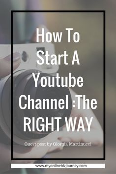 How To Start A Youtube Channel...Youtube is the second largest search engine and EVERYONE should leverage it.
