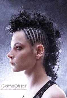 Hairstyles Braided into a Mohawk   Braided Mohawk by marianaGOH on deviantART