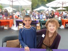 Michael with J.C.Greenburg at the Chappaqua Children's Book Festival 2013.Being there on 9/27/2014 will be the best