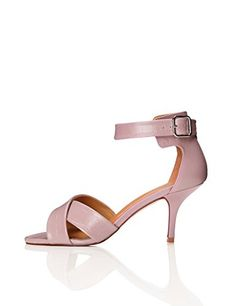 FIND Women's Ankle Strap Heels with Open-Toe, Pink Denim Overalls Outfit, Tomboy Fashion, Ankle Strap Heels, Feminine Style, Short Outfits, Lingerie Set, Plus Size Fashion, Open Toe, Pink