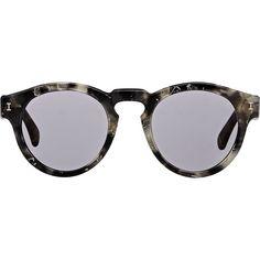 Illesteva Leonard Sunglasses (615 BRL) ❤ liked on Polyvore featuring accessories, eyewear, sunglasses, glasses, multi, keyhole glasses, rounded sunglasses, illesteva sunglasses, illesteva and round keyhole sunglasses