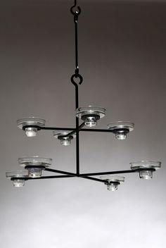 Danish Modern candle holder chandelier