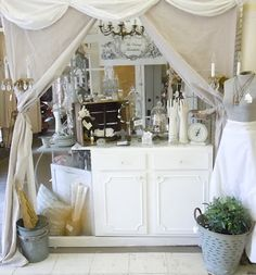 The Vintage Farmhouse .. more booth/display ideas