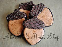 Decorated Acorn Cookies