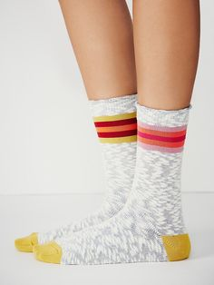 Free People Mis-match Crew Sock at Free People Clothing Boutique