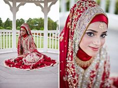 Information about new Islamic Wedding Hijab Style, Arabic Islamic Abaya Wedding Hijab Style, Islamic Hijab Style for the Indonesian Bride, A Video Tutorial to get the Indian Dulhan Look and Indian Dulhan with Islamic Hijab are given in this article. Hijabi Wedding, Muslimah Wedding Dress, Muslim Wedding Dresses, Red Bridesmaid Dresses, Hijab Bride, Muslim Brides, Wedding Dresses For Girls, Bridal Wedding Dresses, Wedding Ceremony