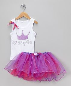 Take a look at this White 'Birthday Girl' Tank & Tutu - Infant, Toddler & Girls on zulily today!