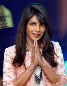 Actress and brand ambassador of Blenders Pride fashion tour Priyanka Chopra at a press conference in Delhi.