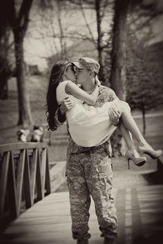Military couple.