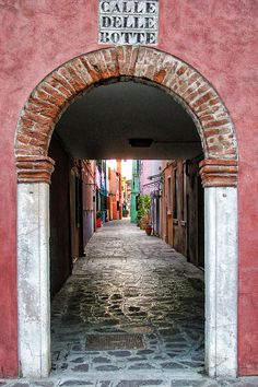 Burano, Venice.  Colourful houses