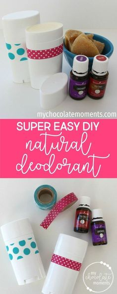DIY super easy natural deodorant made with Young Living essential oils   After tons and tons of searching and trying different options I've FINALLY found something that works amazing for me, actually gets rid of the stink, and doesn't irritate my armpits