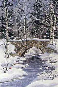 vintage winterlandschappen kerst - Google zoeken