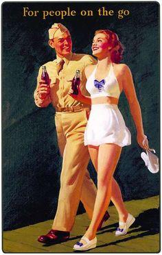 Illustrations vintage Coca-Cola More Coca Cola Vintage, Coca Cola Poster, Coca Cola Ad, Always Coca Cola, Coca Cola Bottles, Retro Ads, Vintage Advertisements, Vintage Ads, Vintage Posters