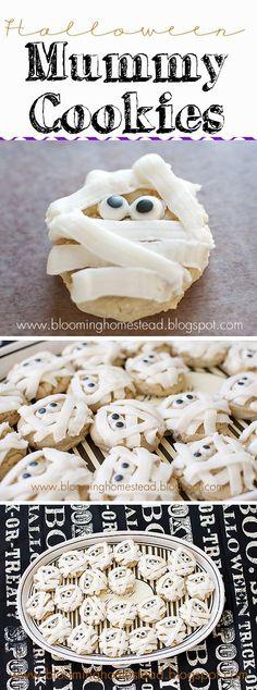 Easy to make mummy sugar cookies. // Galletas de azúcar como momias