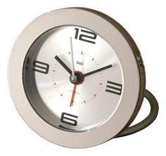 Diecast Round Travel Alarm Clock