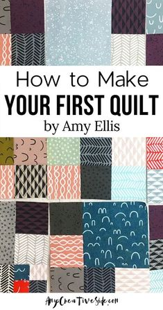 Learn to quilt with me! Complete with a shopping list for basic supplies to get you started. Learning to make a quilt is process! I have broken it down into manageable pieces, with all the tools needed. Make your first quilt today! Quilting Tips, Quilting For Beginners, Quilting Tutorials, Machine Quilting, Quilting Projects, Easy Quilts, Small Quilts, Mini Quilts, Quilt Patterns